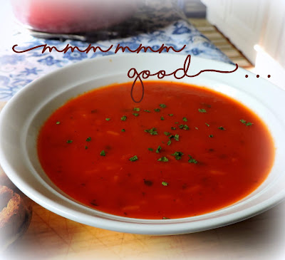 Roasted Tomato & Rice Soup