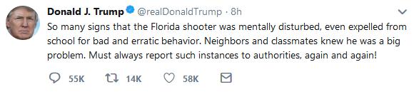 هكذا رد المشاهير على إطلاق نار في مدرسة ثانوية بولاية فلوريدا الأمريكية