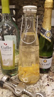 white wine champagne sangria