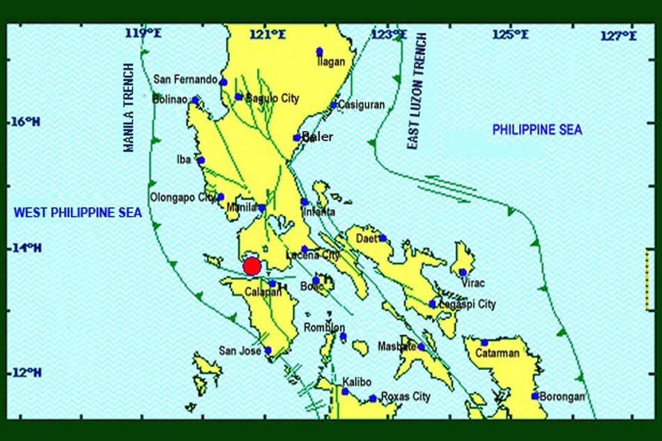 5.4 Magnitude Earthquake Rocks Batangas