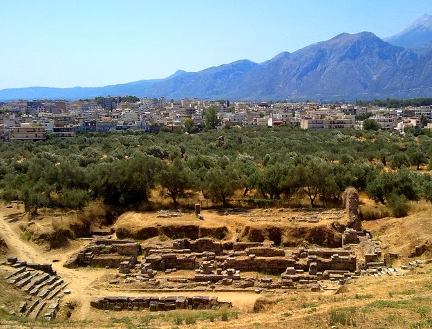 41. This WAS Sparta. (The ruins of ancient Sparta with modern Sparta in the background.) - 49 Reasons To Love Hellas (Greece)