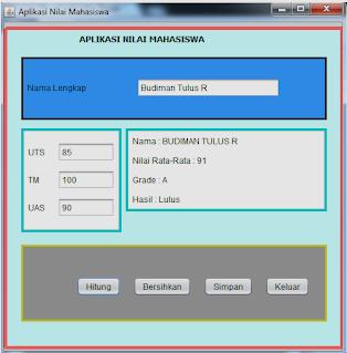 Download Aplikasi Penghitung Nilai Mahasiswa Dengan Java Netbeans
