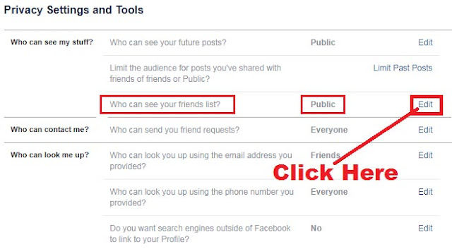 how to hide complete friend list on facebook