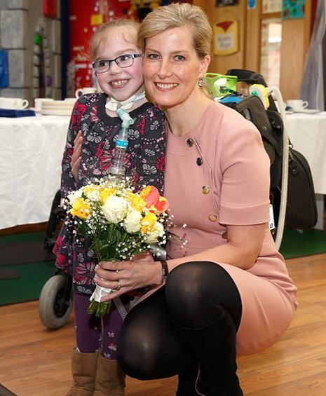 Sophie, Countess of Wessex visits Christopher's Children's Hospice to mark the 15th birthday of the charity Shooting Star Chase