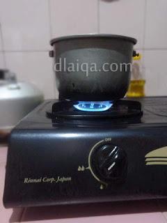 masak dengan api sedang