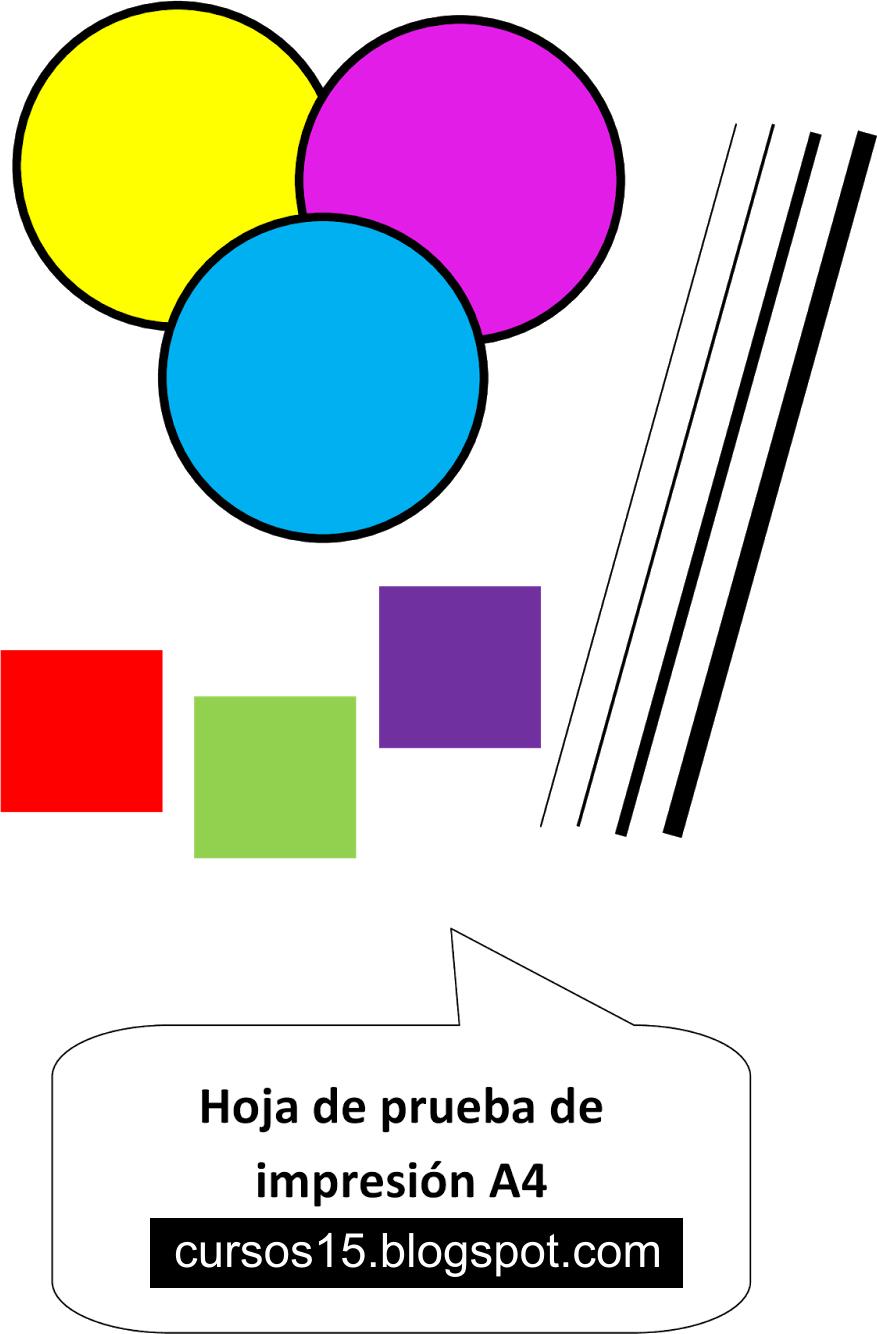 Cursos 15: Hoja de Prueba de Impresión A4