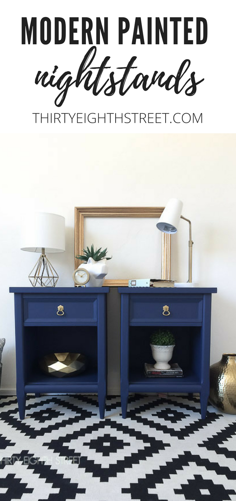nightstand paint makeover, end table makeovers, side table makeovers, before and after furniture, painted furniture ideas, nightstand ideas, bright nightstands, blue nightstands