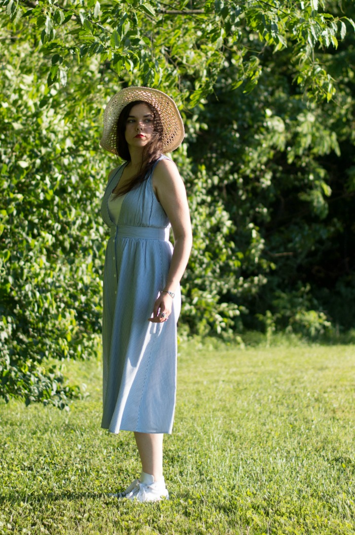 kimchi blue button down midi dress
