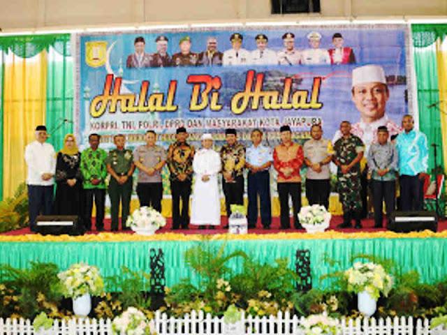 Gustav Urbinas Hadiri Halal Bi Halal Kota Jayapura