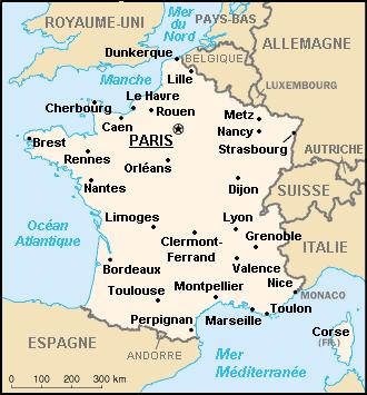 Fransa Şehirleri Haritası