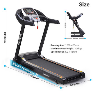 Ancheer S9300 Bluetooth Treadmill with hydraulic folding deck, image, review features & specifications