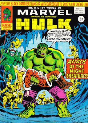 Mighty World of Marvel #214, Hulk vs Mole Man