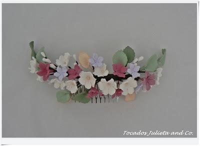 tocado porcelana novia