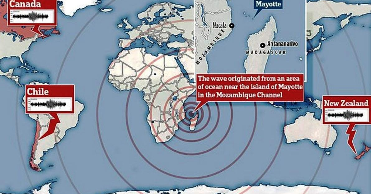 11 November 2018 Mayotte seismic event