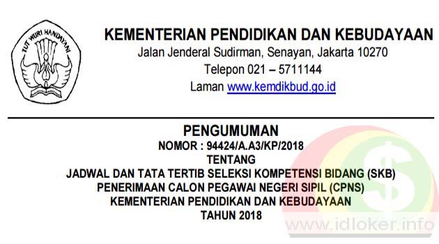 Daftar peserta dan jadwal SKB kemendikbud