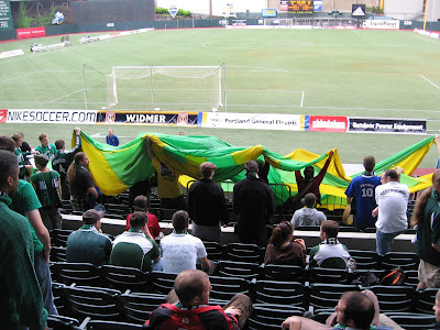 section 107, timbers army, flag, North End, USL era, Portland Timbers