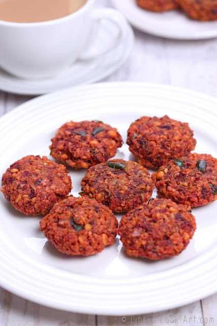 Masala Vadai with Beetroot