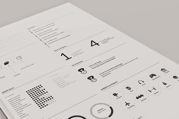 Professional Resume PSD Template Design