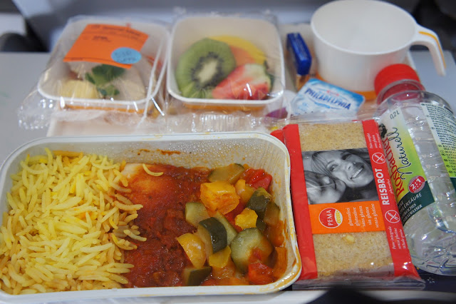 gluten free meal Lufthansa from Frankfurt to Boston