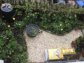 pig row, herbs, gardening