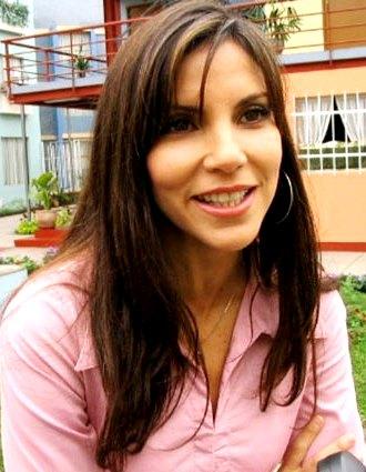 Foto de Paola Enrico en entrevista