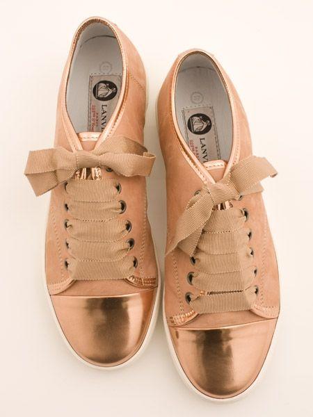 Desejo do dia Tênis- Sneakers rosa e metalizados  com laços da Lanvin