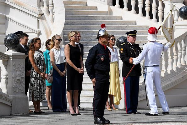 Princess Charlene, Princess Caroline, Princess Stephanie, Pierre Casiraghi, Beatrice Borromeo, Andrea Casiraghi