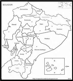 El aula de Grace: COLOREA LAS REGIONES DEL ECUADOR