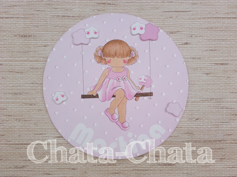 Chata chata decoraci n infantil placa para el dormitorio for Placas decoracion pared