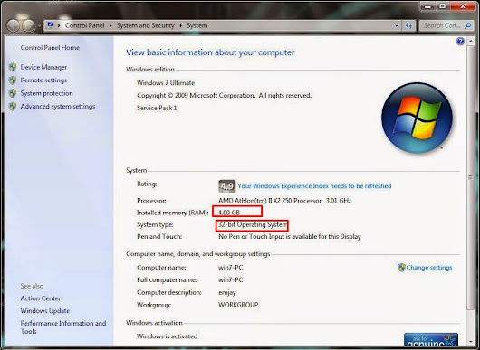 How To use Your Memory Full even your pc is 32bit  ~ Techy Trez