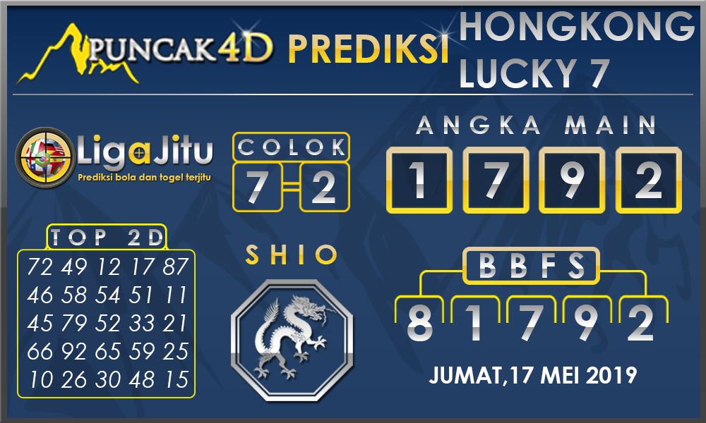 PREDIKSI TOGEL HONGKONG LUCKY7 PUNCAK4D 17 MEI 2019
