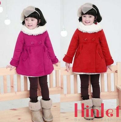 Áo khoác trẻ em chống rét vải dạ