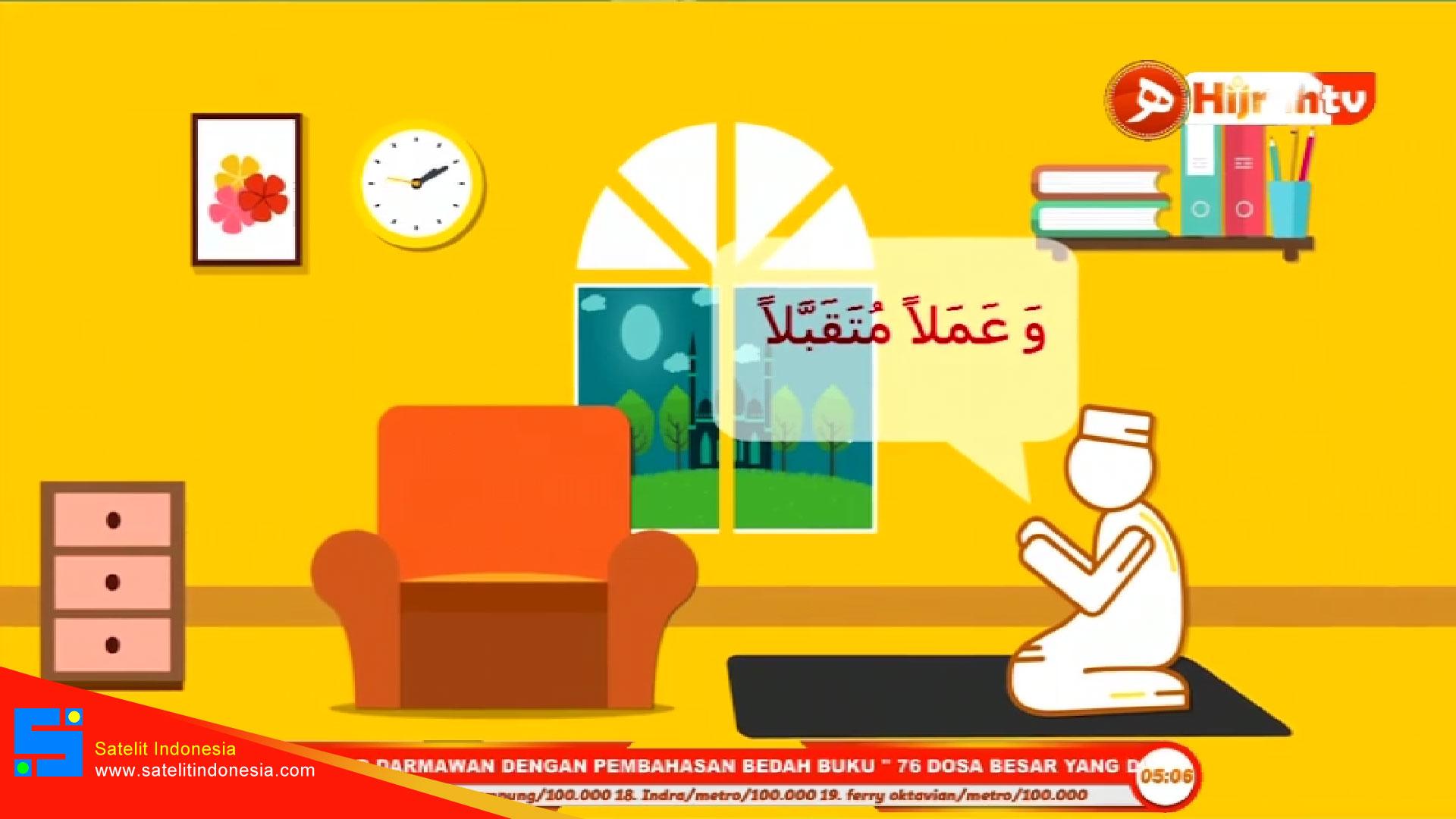 Frekuensi siaran Hijrah TV di satelit Telkom 4 Terbaru