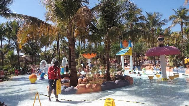 Parque aquático. Perfeito para crianças.