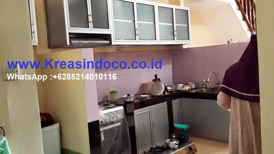Kitchen Set Alumunium Kombinasi Alumunium Composite Pemasangan Di