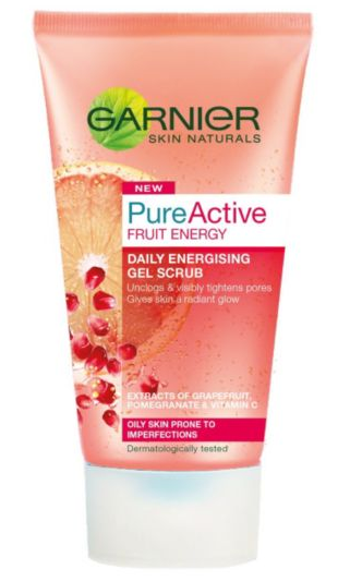 garnier pure active fruit energy gel scrub shoutjohn