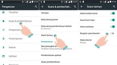 Cara Menghilangkan Getar Tombol Back Android
