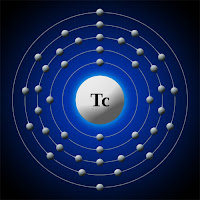 Teknetyum (teknesyum) atomu elektron kabuk modeli