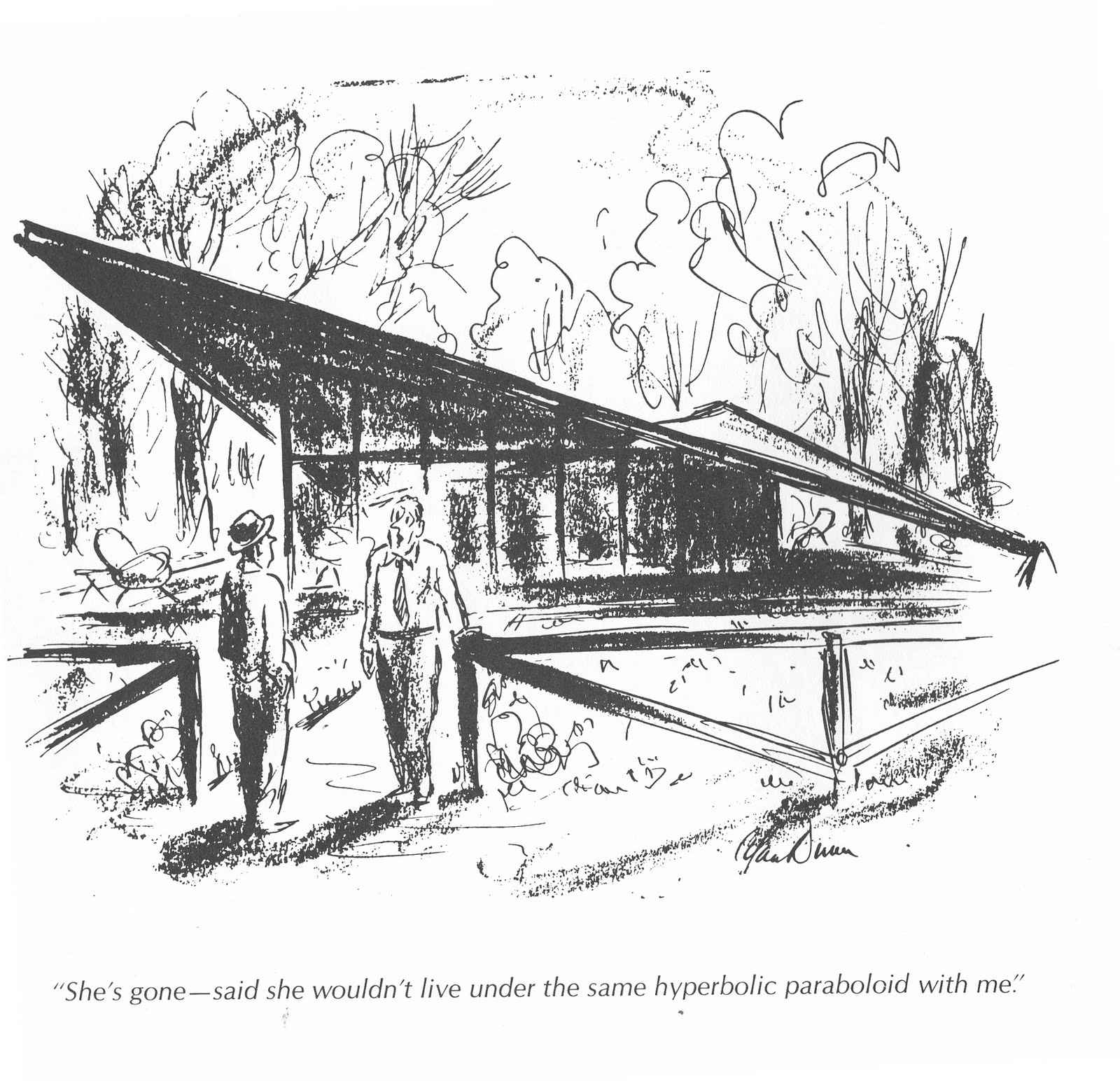 Retro Rockets: Modern architecture cartoons by Alan Dunn