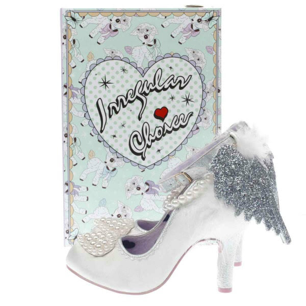 irregular choice vintage lamb printed shoe box aw17