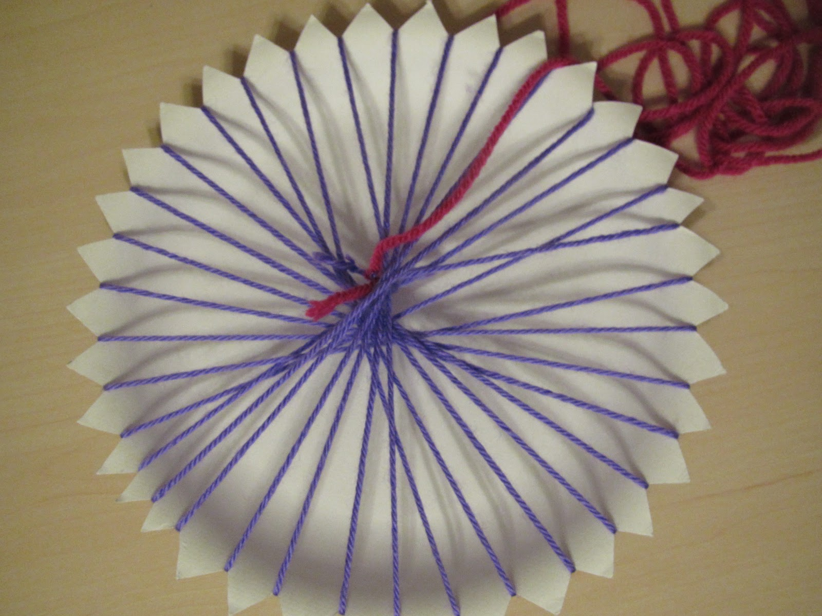 & Paper Plate Weaving Step by Step - Lessons With Laughter