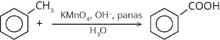 reaksi pembuatan asam benzoat