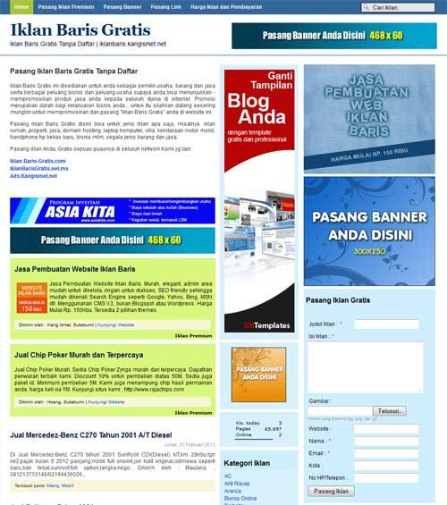 Download Template Iklan Baris Blogger Responsive Petani Internet