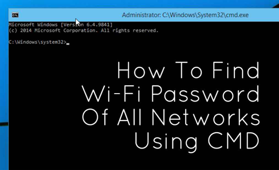Cara mengetahui password WiFi orang lain dengan CMD