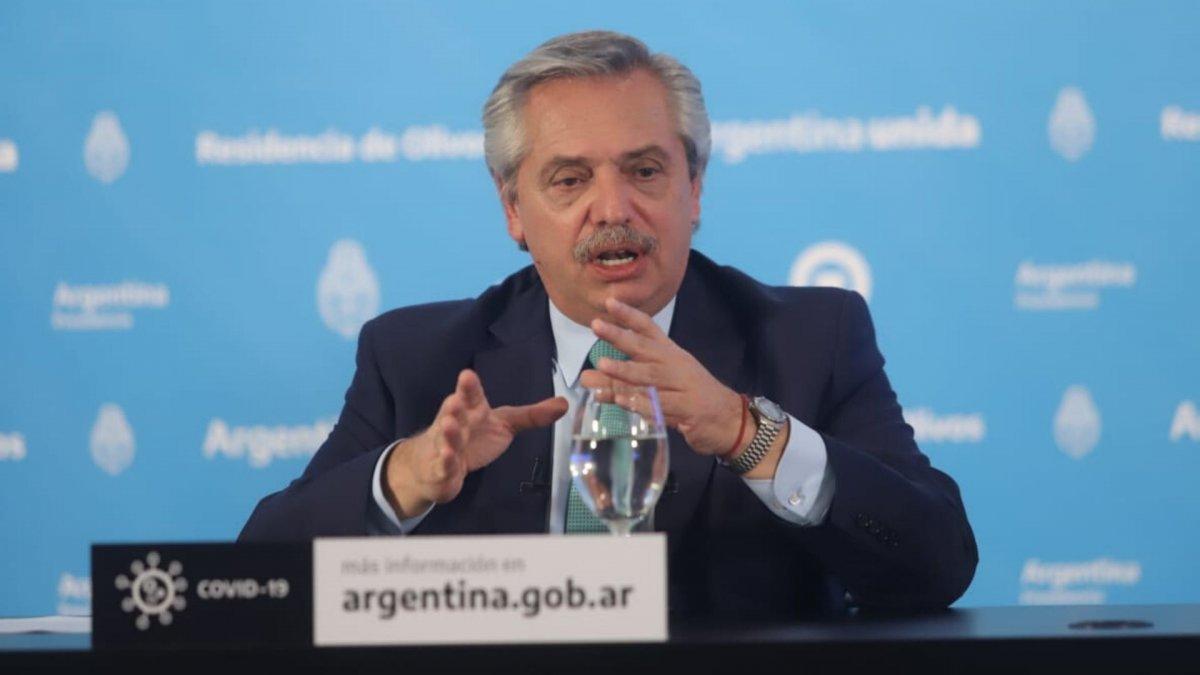 Alberto Fernández pidió