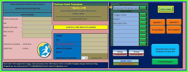 Aplikasi Pengembangan Diri Kegiatan Kurikulum 2013