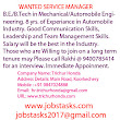 |Service Manager Jobs In Kochi | Service Manager Jobs in Ernakulam|Service Manager jobs in Kerala