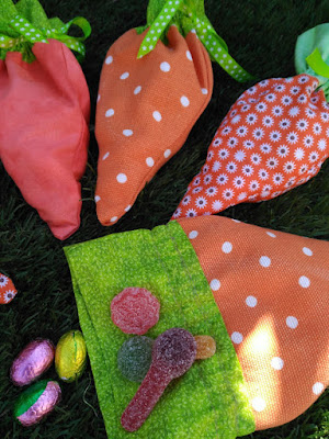 bolsitas chuches, zanahoria, carrot treat bag, pascua, pâques