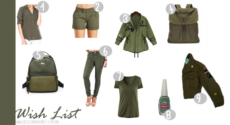 wish list verde militar