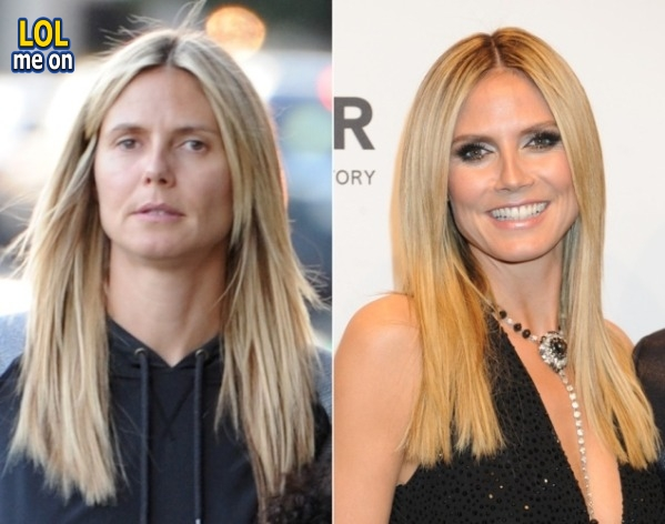 "funny celebrities picture Heidi Klum from ""LOL me on"""
